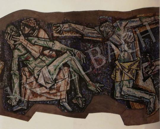 Hajnal János - Keresztút (részletek), Firenze, 1960 festménye