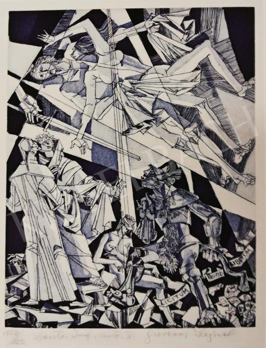 Hajnal, János - Illustration, Dante, Hell, V. Song, 1980's painting