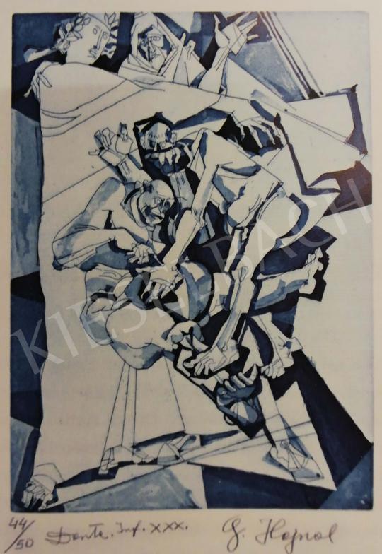 Hajnal János - Illusztráció, Dante: Isteni színjáték, Pokol, XXX. ének, 1980-as évek festménye