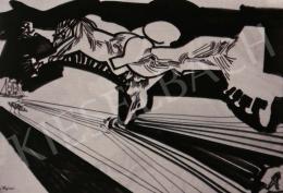 Hajnal János - Illusztráció, J. Swift: Gulliver utazásai, 1971