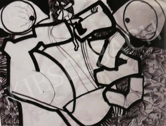 Hajnal János - Illusztráció, J. Swift: Gulliver utazásai, 1971 festménye