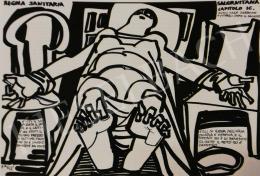 Hajnal János - Illusztráció, Regola Sanitaria Salerintana, IC. fejezet, 1977