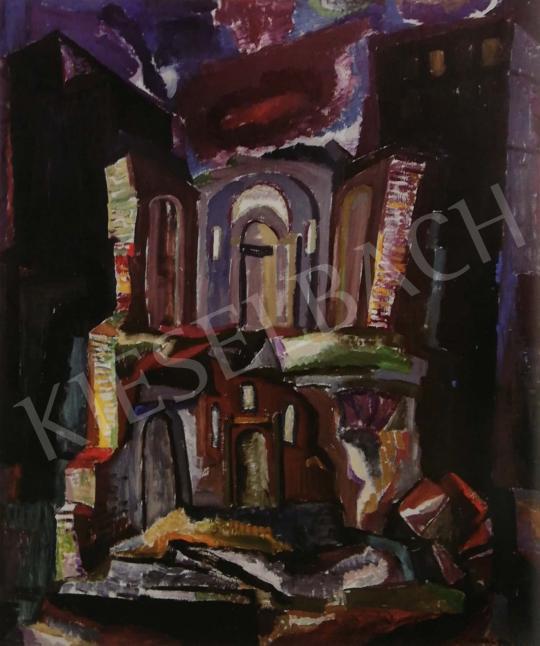 Hajnal János - Az ördög széke, 1959 festménye