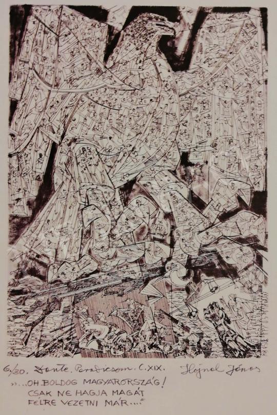 Hajnal János - Illusztráció, Dante: Isteni színjáték, Paradicsom, XIX. ének, 1980-as évek festménye