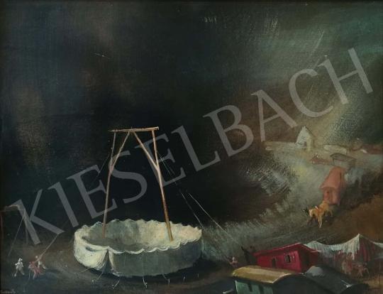 Eladó  Istókovits Kálmán - Cirkuszi sátor festménye