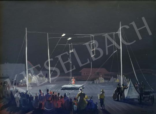 Eladó  Istókovits Kálmán - Cirkuszi jelenet festménye