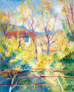 Vass Elemér - Napsütéses dél-francia táj (Provence), 1932