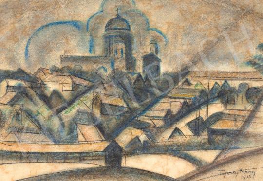 Tipary Dezső - Dinamikus város, 1920 körül   59. Őszi Aukció aukció / 2 tétel