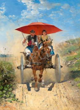 Kubányi Lajos - A piros napernyő, 1893