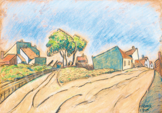 Kádár, Béla - Suburb, early 1920s | 59th Autumn Auction auction / 11 Item