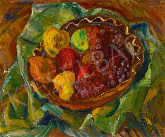 Frank Frigyes - Őszi csendélet szőlőkkel és almákkal | 59. Őszi Aukció aukció / 12 tétel