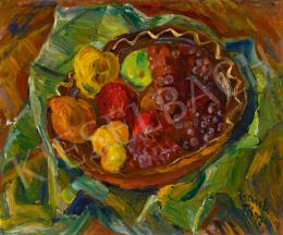 Frank Frigyes - Őszi csendélet szőlőkkel és almákkal