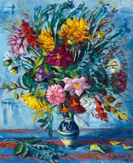 Bertalan Albert - Színes virágok vázában, 1938