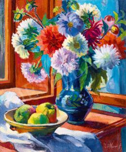 Ziffer Sándor - Virágcsendélet a művész nagybányai ablakában