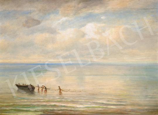 Telepy Károly - Balatoni halászat, 19. sz. vége | 59. Őszi Aukció aukció / 20 tétel