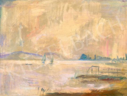 Iványi Grünwald Béla - Balatoni vitorlások (A párás Balaton) | 59. Őszi Aukció aukció / 21 tétel