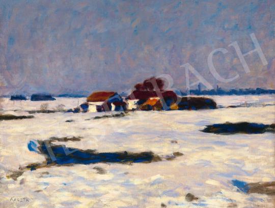 Koszta József - Téli fények (Tanya télen), 1920-as évek | 59. Őszi Aukció aukció / 24 tétel
