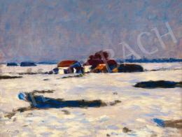 Koszta József - Téli fények (Tanya télen), 1920-as évek