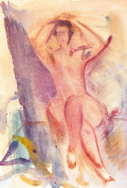 Márffy, Ödön - Female Nude in Open-Air