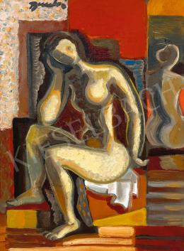 Bene Géza - Modell műteremben tükör előtt