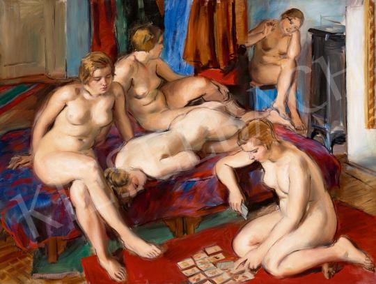 Jobbágyi Gaiger Miklós - Párizsi aktok a műteremben (Passians), 1930 | 59. Őszi Aukció aukció / 28 tétel