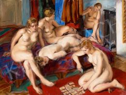 Jobbágyi Gaiger Miklós - Párizsi aktok a műteremben (Passians), 1930