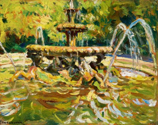 Perlmutter Izsák - Római szökőkút (A Villa Borghese parkja), 1914 | 59. Őszi Aukció aukció / 32 tétel