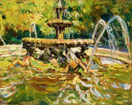 Perlmutter, Izsák - Fountain in Rome (Villa Borghese), 1914