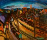 Schönberger Armand - Nagyváros (Sinek mentén), 1930 körül festménye