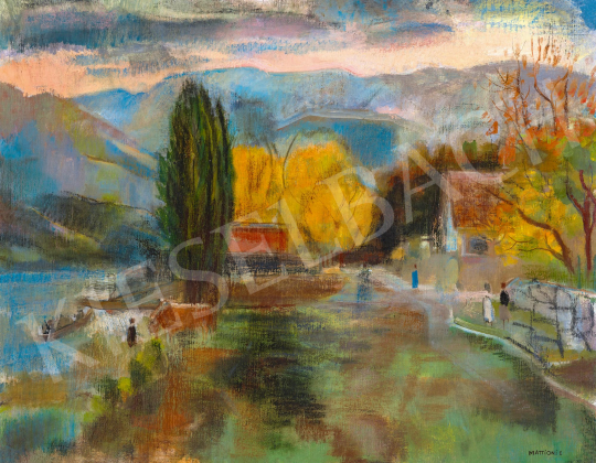 Mattioni, Eszter (Hollósné, Hollós Mattioni E - The Danube Bend at Zebegény | 59th Autumn Auction auction / 53 Item