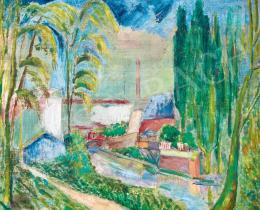 Klie Zoltán - Mesetáj kék házikóval, 1926