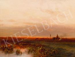 Böhm Pál - Naplemente az Alföldön, 1898