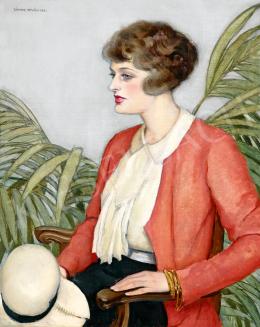 Zádor István - Fiatal lány fehér kalappal, 1931