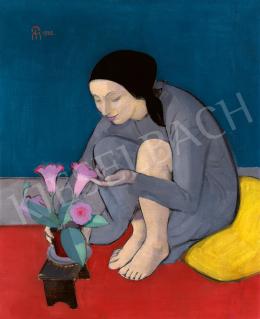 Miháltz Pál - Lány virággal (Gyengédség), 1932