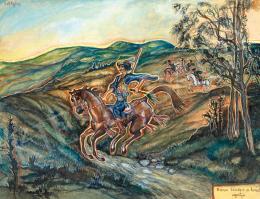 Batthyány Gyula - Rózsa Sándor a lovát ugratja
