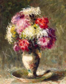 Koszta József - Színes virágok vázában