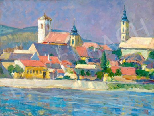 Rózsaffy, Dezső - Town by the Danube | 59th Autumn Auction auction / 116 Item