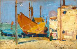 Gulácsy Lajos - Halászbárkák Velence mellett (Chioggia), 1907-1908