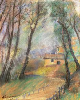Gulácsy Lajos - Út a parkon át (Olaszország), 1905-1908