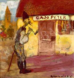 Gulácsy Lajos - Gajó Péter boltja előtt, 1902-1905
