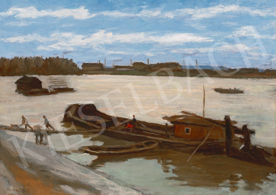 Fényes, Adolf - By the River Tisza | 59th Autumn Auction auction / 125 Item