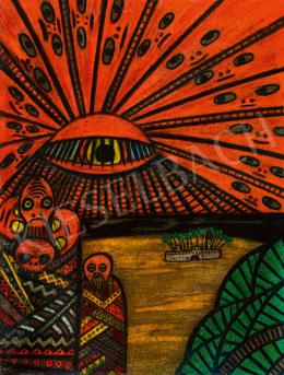 Mokry-Mészáros Dezső - Sugárzó nap-szem egy idegen bolygón (Serie IV Mysterium), 1916