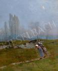 K. Spányi Béla - Hazafelé festménye
