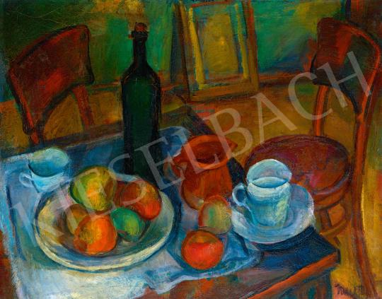 Kmetty János - Asztali csendélet székekkel, 1920-as évek eleje | 59. Őszi Aukció aukció / 169 tétel