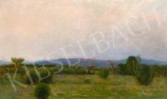 Hollósy Simon - Técsői táj festménye