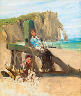 Bruck, Lajos - Seaside in Normandy (Les Falaises d'Etretat)