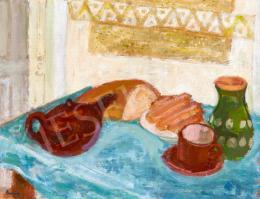 Berény Róbert - Csendélet kenyérrel, 1920-as évek második fele