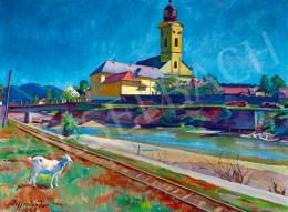 Ziffer Sándor - Kék ég (Nagybánya a Zazar-parttal), 1948