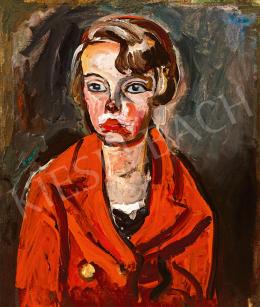 Pór Bertalan - Piros kabátos gyermek, 1920-as évek vége