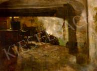 Hollósy, Simon - Dimmed Lights, 1887 painting